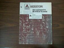 Hesston Hi Capacity Bi Fold Rake Model 3983 12 Wheel Model 398614 Wheel