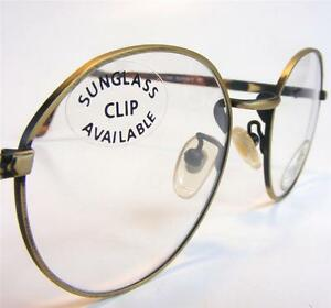 aed4680cce Image is loading Antique-Bronze-Wire-Vintage-Eyeglass-Frame-50-Outfitter-