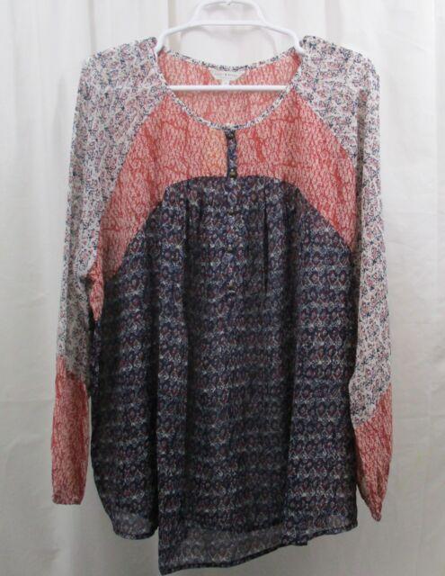 Women's Lucky Brand L/S Peasant  Shirt  3X