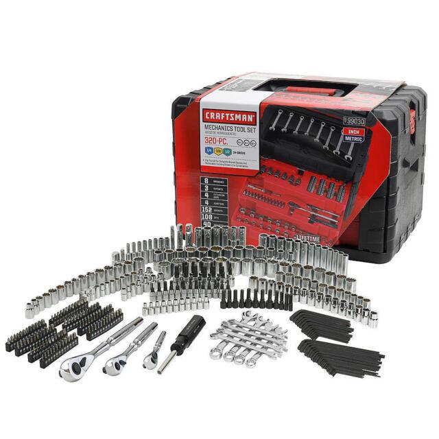 Craftsman 320 Piece Mechanic's Tool Set With 3 Drawer Case Box