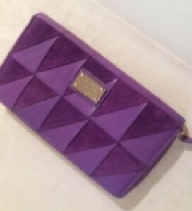 Tommy Large Sized Boxed New Purse Wallet Over Leather Purple Kate Gift Suede Zfwxp
