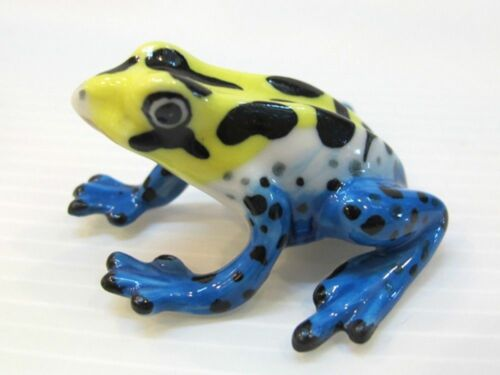 Yellow Frogs Figurine Animal Ceramic Miniature Statue Collectible  Gift