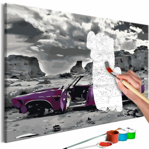 Malset mit Holzrahmen 60x40 Leinwand Erwachsene Gemälde Kit DIY n-A-0662-d-a