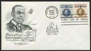 #1147 & 1148 T. G. Masaryk, Artmaster [4] con Dirección FDC Cualquier 5=