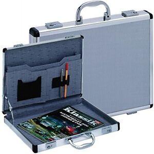 Aluminiumkoffer Aktenkoffer Dokumentenkoffer Notebook extrem schmal Slimline