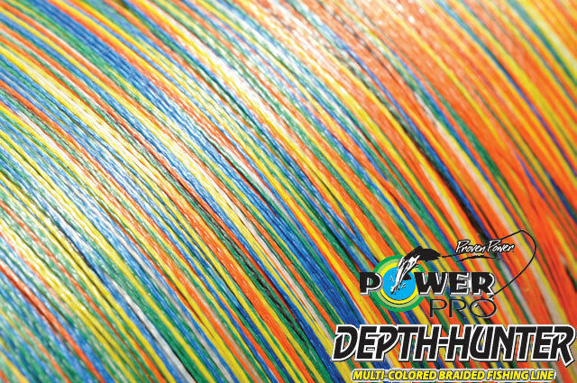 Power Pro Depth-Hunter Multi Colour 1600m   0,28mm   20kg Geflochtene Schnur