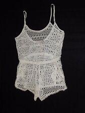 Victorias Secret Beach Sexy Lacey Crochet Shorts Romper Swim Cover Up Size M NWT