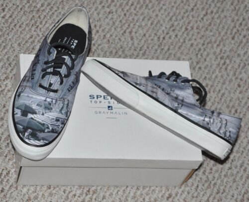 Sperry Top Sider Cloud CVO Gray Malin Fashion Shoes Sneakers New with Box