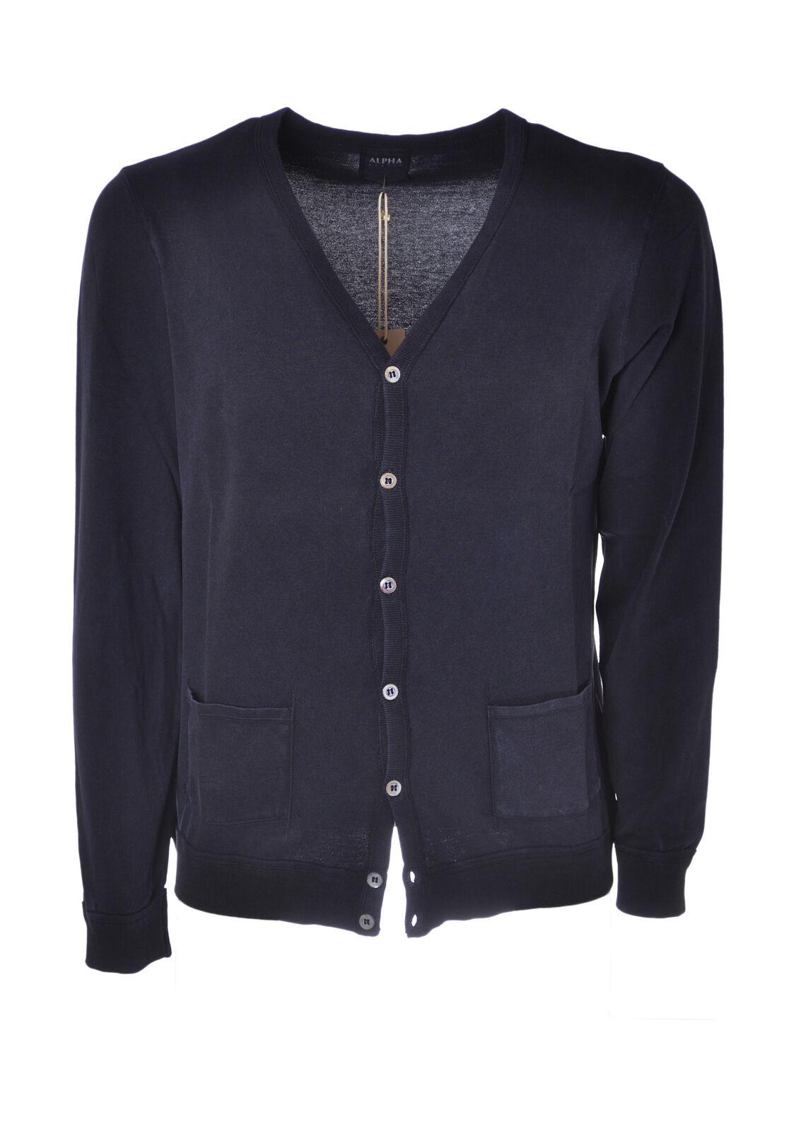 Alpha - Knitwear-Cardigan - Man - bluee - 4560308C191529