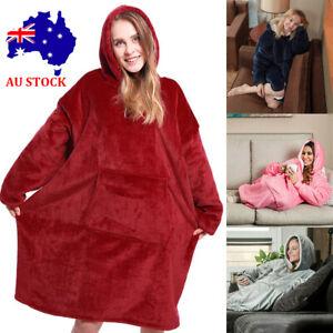Blanket-Hoodie-Ultra-Plush-Comfy-Giant-Sweatshirt-Huggle-Fleece-Warm-With-Hooded
