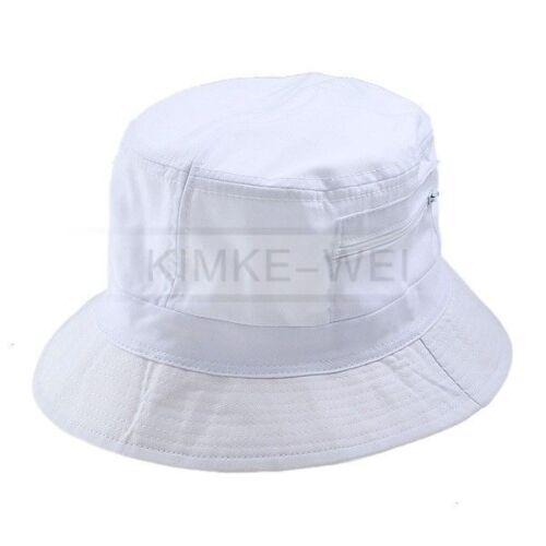 Sonnenhut Sommerhut aus Baumwolle für Damen in weiß 22cm