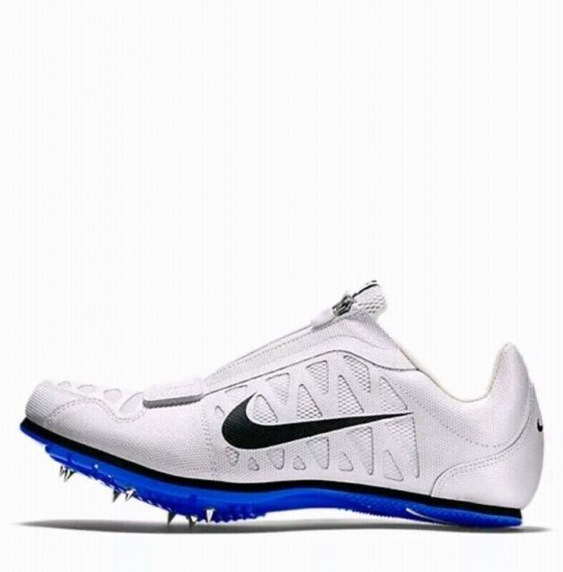 Nike Zoom LJ 4 Jump Unisex Track Spikes 415339 100 White Blue Size 15 T2