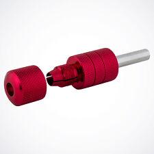 "NEW 1"" Red EZ Auto Self-Lock Aluminum Tattoo Grip w/ Tube for Machine Gun Kit"