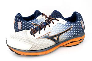 Mizuno-Mens-14-Wave-Rider-18-White-Blue-Orange-Running-Shoes-EUR-48-5