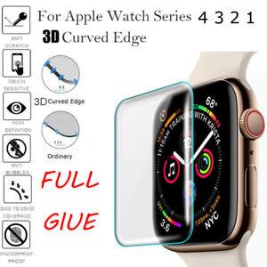Para-Apple-Watch-4-3-2-3D-Completo-Series-Cubierta-Protector-de-Pantalla-de-Vidrio-Templado-Film