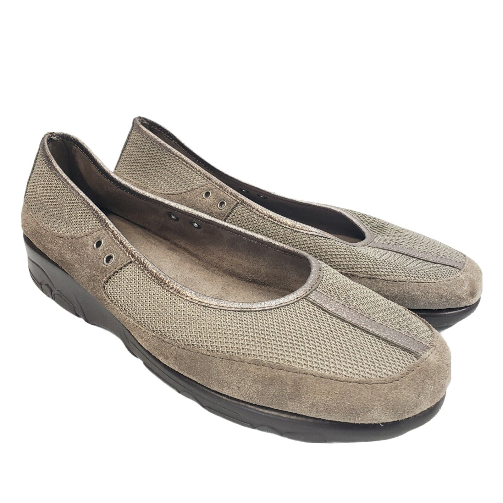Aerosoles Women's Loafer Flats Shoes Size 9M Gray Frabic Slip On