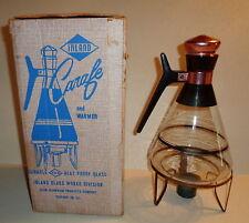 Vintage 1950'S Mid-Century Inland Coffee Carafe & Warmer in Original Box COPPER