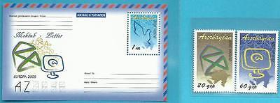 Block 81 Europa Aspiring Aserbaidschan Aus 2008 ** Postfrisch Minr.715-716 Der Brief Agreeable To Taste