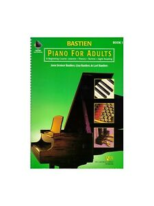 bastien piano for adults 1 learn to play present gift music book