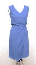 L243/14 Warehouse Festive Elegant Chiffon Blue Dress , size UK6  ()