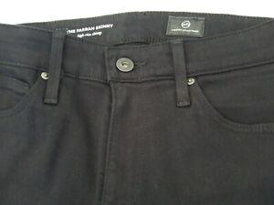 AG-Adriano-Goldschmied-The-Farrah-High-Rise-Skinny-Black-Jeans-Sz-24R