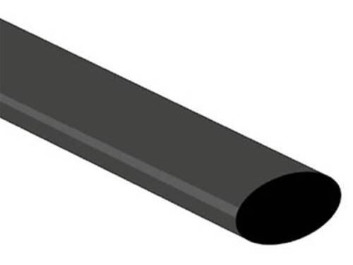 1m noir gaine thermoretractable 2:1-6.4mm