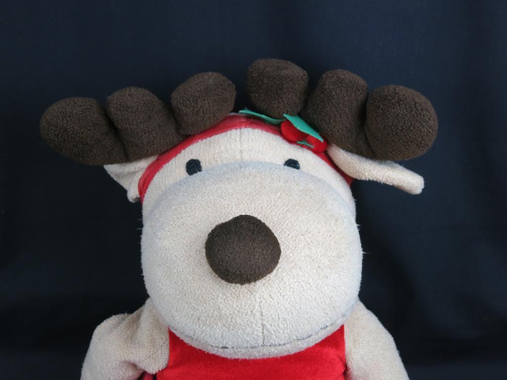 BIG JUMBO BESTEVER CHRISTMAS GIRL REINDEER rosso PARTY DRESS PLUSH STUFFED DOLL