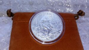 High-Relief-BIGFOOT-1oz-Fine-Silver-999-Sasquatch-with-Capsule-amp-Coin-Pouch