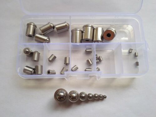 21pcs Stainless Steel Positioning Beads Touch Bead Spring Ball Screws Assortment