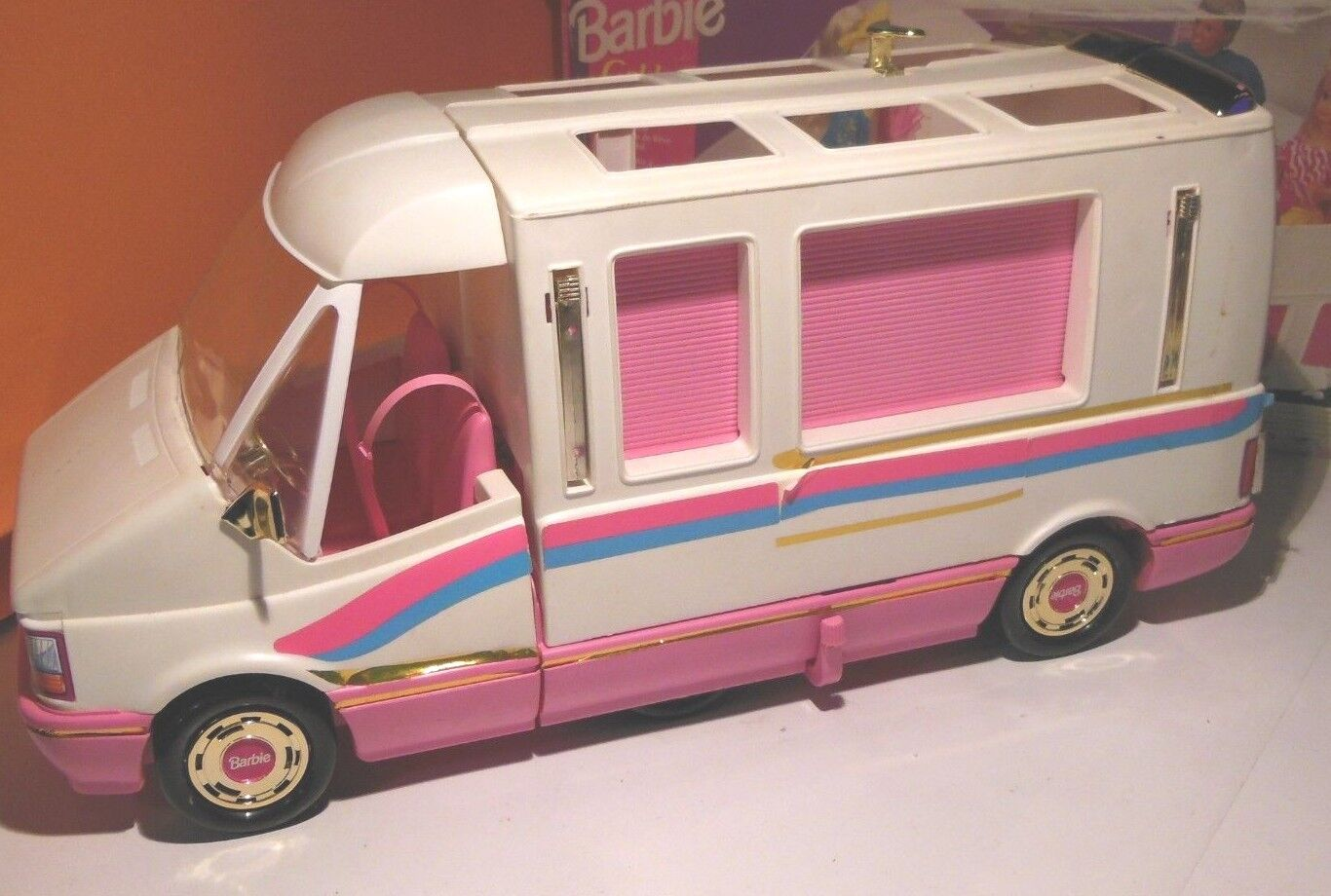 Barbie oroen Dream Camper da Sogno Mattel 1988 Box ata Buono stato