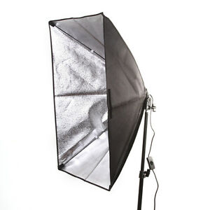 Photography Lighting Kit Studio Softbox +E27 Socket Bulb Flash Lamp Head 50x70cm