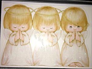 Hallmark Boxed Set 16 Christmas Cards Religious Three Angels God Bless You Vtg 763795294862 Ebay