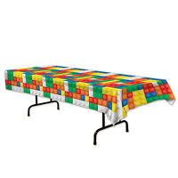 Building Blocks Kids Party Decoration Table Cover 54 X 108