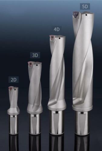 KLOT WC Series 4D 40.5mm-70mm Indexable Drill Insert U Drill W//Coolant Thru Hole