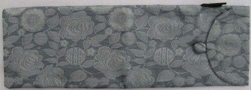 "Assorted Colours SILK Knitting Needle Case Storage Pocket 30cm 12/"""