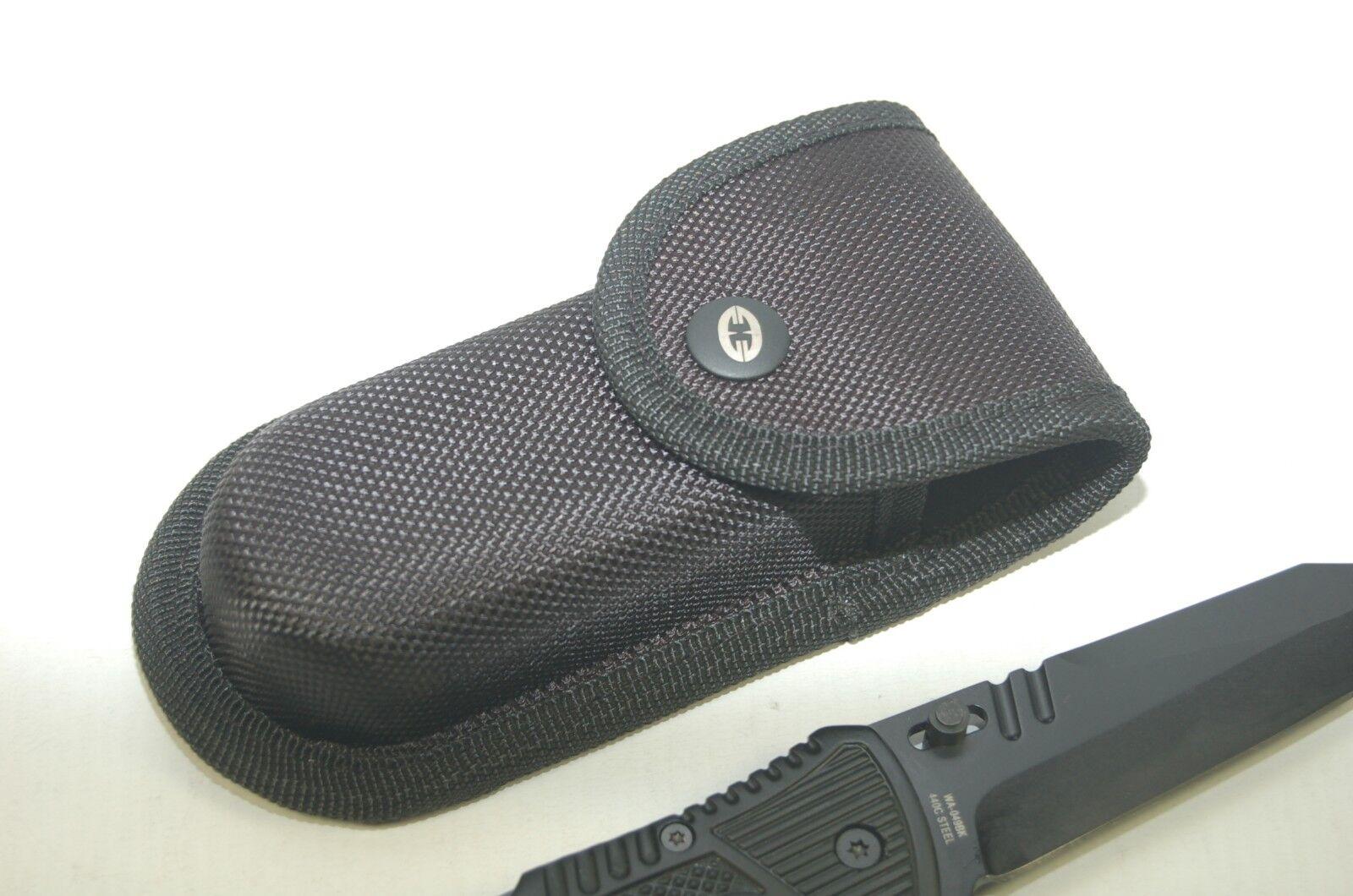 Witharmour Racketeer black 440 C Acier Couteau Couteau Couteau de poche escamotable couteau Tanto Sac 83b98c