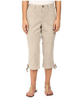 Nydj Not Your Daughters Jeans Abbie Crop Pants Capris14p Soft Taupe $98