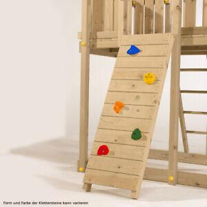 Kletterwand 50x150 cm für Spielturm oder Klettergerüst  mit 5 Klettersteinen