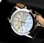 thumbnail 68 - Fashion Sport Men's Stainless Steel Case Leather Band Quartz Analog Wrist Watch