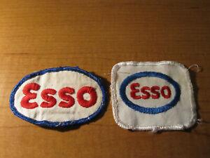 (2) Esso Concessionnaire GAZ OIL STATION SERVICE uniforme Emblème brodé tissu patch-afficher le titre d`origine 8llB0zFy-09093149-216535909