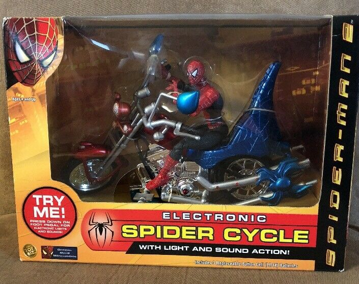 TOY BIZ MARVEL SPIDERMAN 2 SUPER POSEABLE FIGURE OFFICIAL MOVIE Merch 2004 Toys