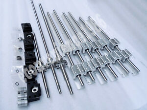 2xSBR25-400-1250-2400mm-amp-RM2505-400-1250-2400mm-ballscrew-amp-BK20-BF20-amp-couplers