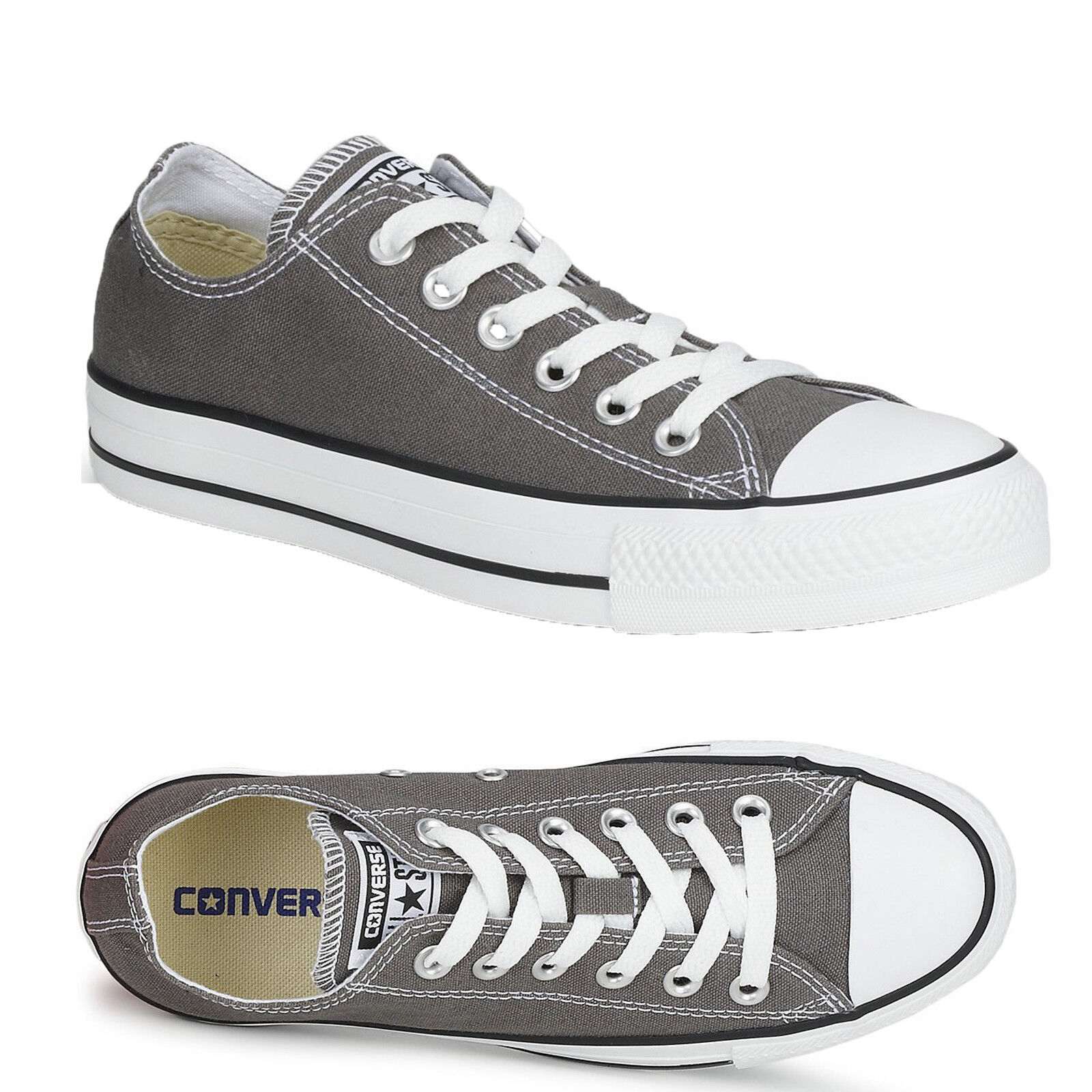 LADIES Uomo Donna UNISEX GREY CONVERSE CHUCK ALL STARS OX LO CHUCK CONVERSE TAYLORS ALL SIZE b36e42