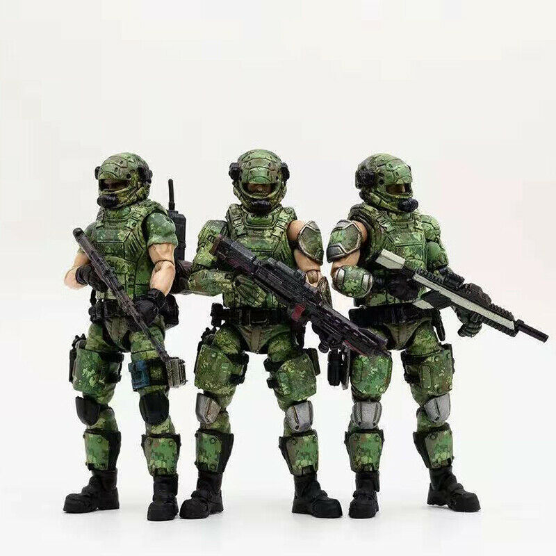 1 18 Scale Russian Camouflage Team 3 Solider Figure Set JOYTOY Model Toy Collect