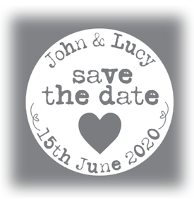 60-x-Personalised-wedding-stickers-Save-The-Date-names-white-grey-35mm-favours