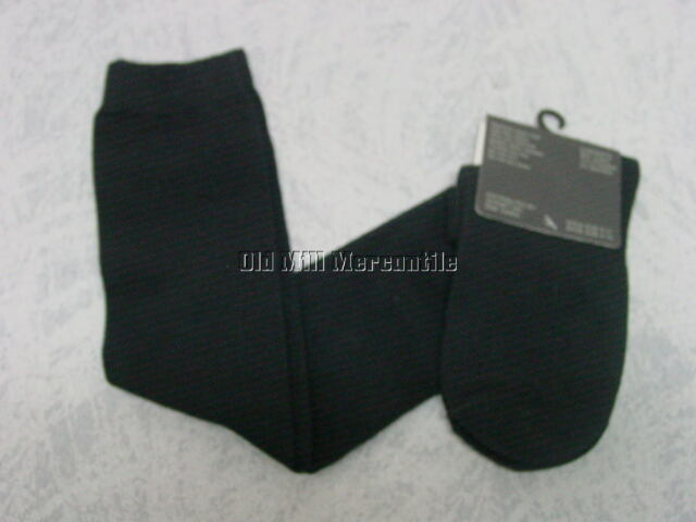 Black THIGH HI over the knee cotton blend socks NEW