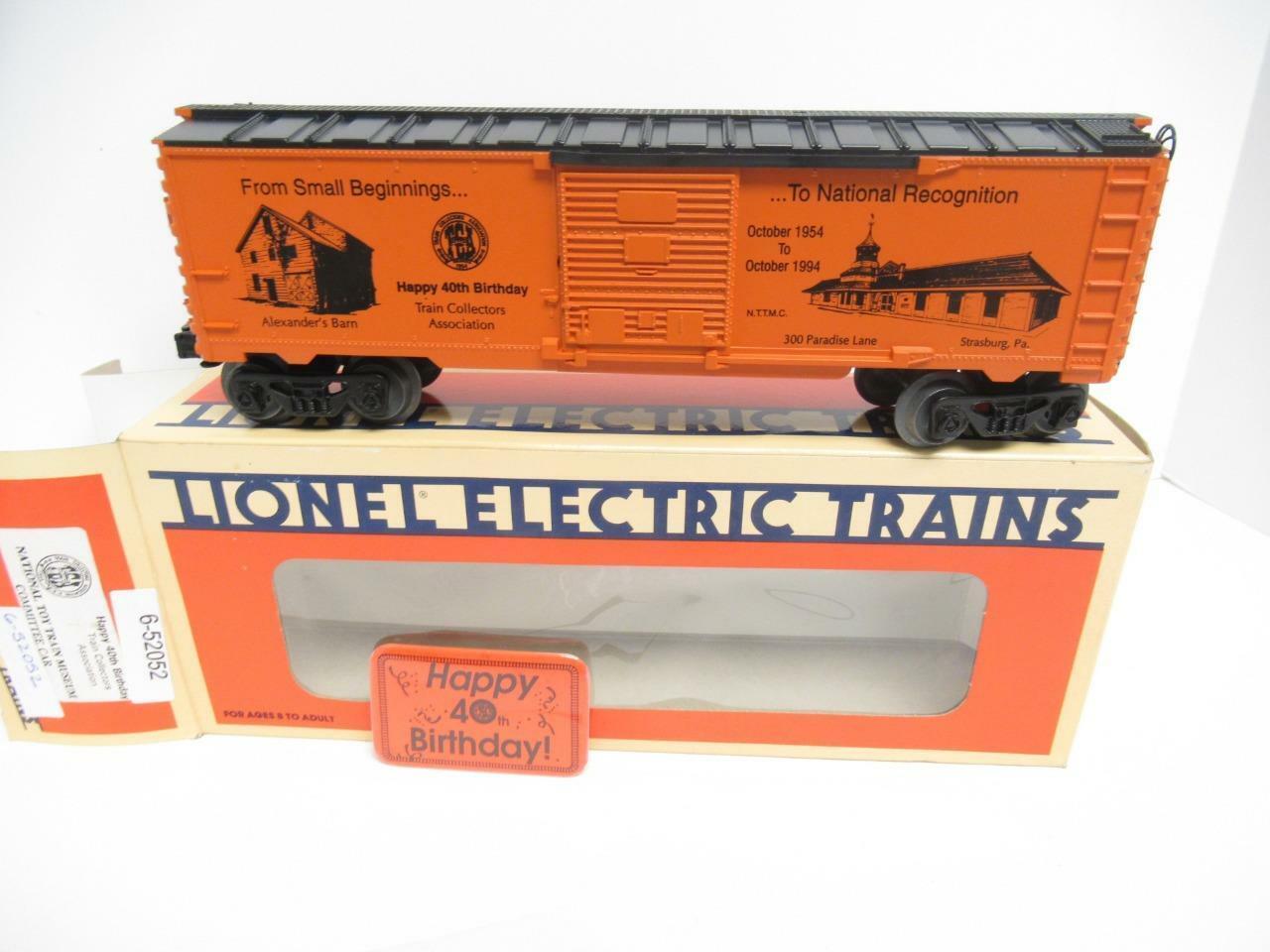 Lionel Ltd.Productions 52052- Tca 40TH Geburtstag Boxcar W   Stift -0 027- Neu