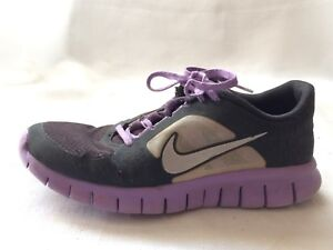 wholesale dealer aed72 f4274 Image is loading Nike-Free-Run-3-Purple-Black-Girls-5-