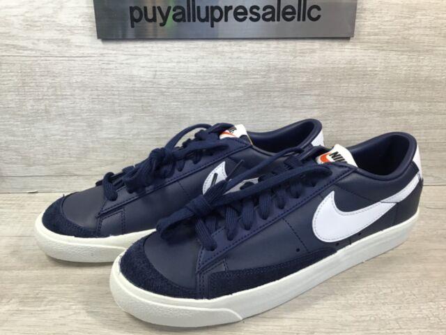 Men's Nike Blazer Low '77 Vintage Midnight Navy/White DA6364-400 Size 8.5