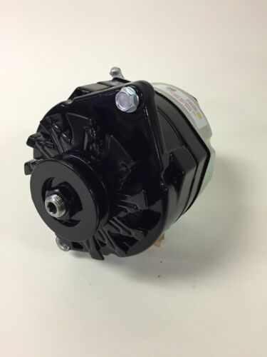 MERCRUISER SAE MARINE BLACK POWDER COAT 1 WIRE HIGH OUTPUT ALTERNATOR 135 AMP